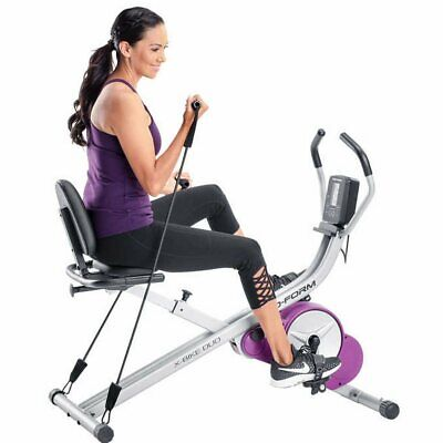 ProForm X-Bike Duo w/ 6 Mo. iFit Coach, Minimal Assembly Required, Purple