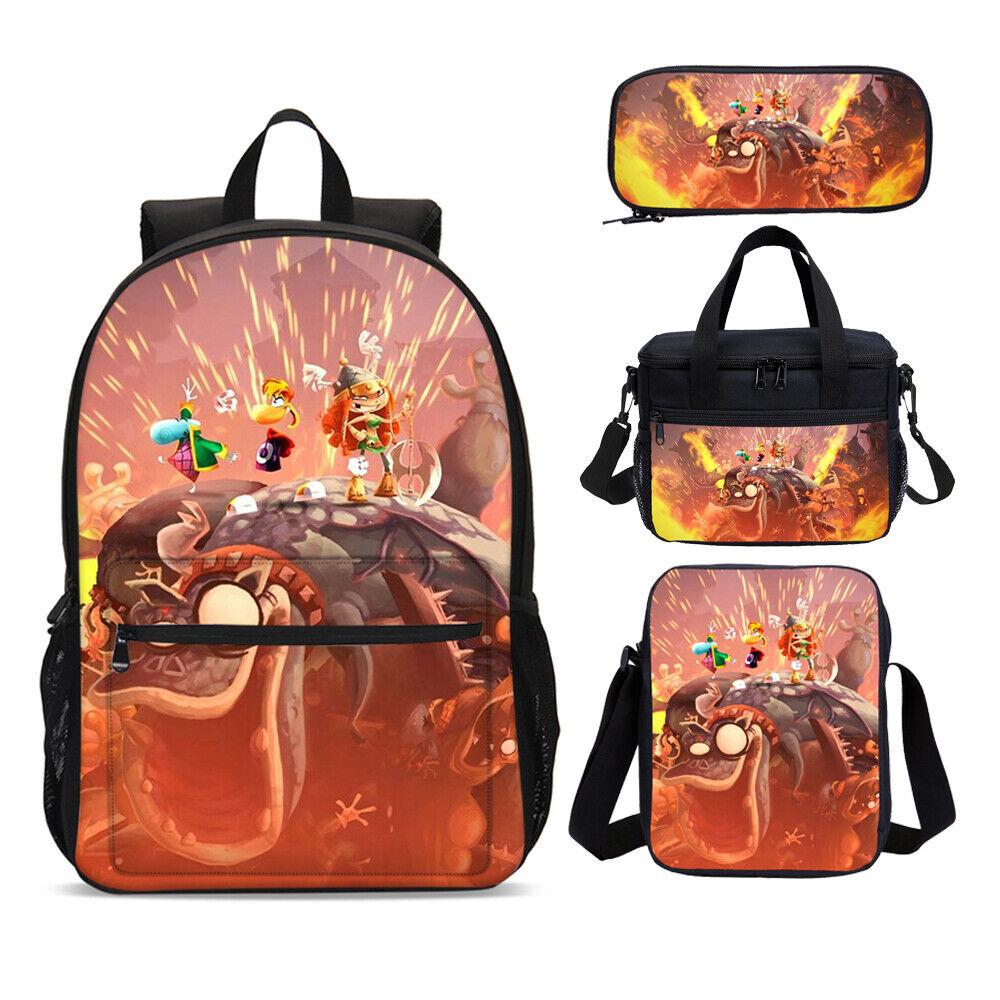 Rayman Legends Boys 3D Backpack School Cooler Bags Sling Bags Pen Case Gifts Lot