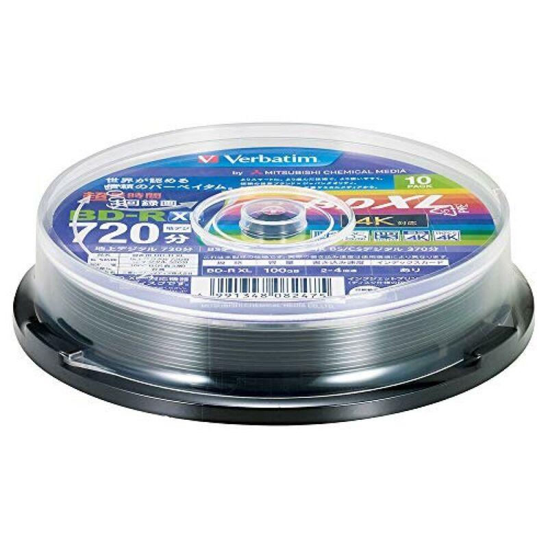 Verbatim Blu-ray Disc BD-R 10 Spindle XL 100GB 4x Speed Printable VBR520YP10SV2