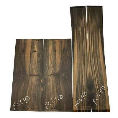 Figured Gaboon Ebony Guitar Back & Side Classical Set #FCL40 Luthier Tonewoods