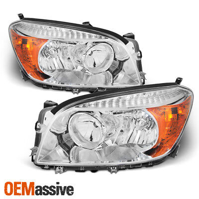 Fits 2006 2007 2008 Toyota Rav4 Left + Right Side Headlights Front Lamps Pair, used for sale  Hacienda Heights
