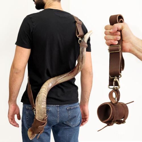 HalleluYAH Shofar Horn Belt – Genuine Leather | Customizable Kudu Shofar Strap