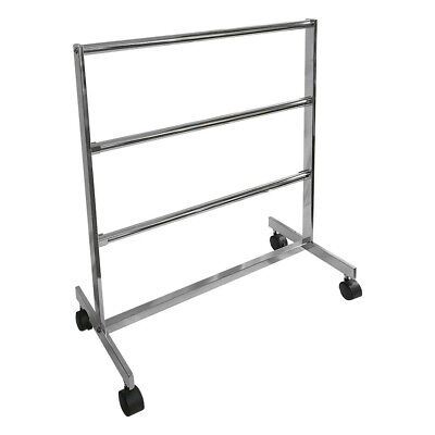 Chrome Finish 3 Bars Clothing Rack Garment Rack Retail Fixture