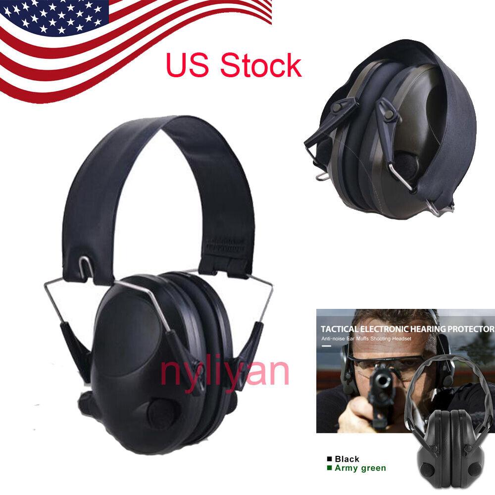 Tactical Electronic Ear Muffs Noise Canceling Shooting Heari