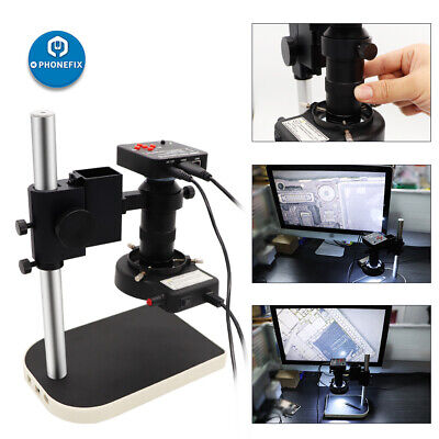 Digital Video Microscope Camera 38mp Hd Usb 180x Cmount For Pcb Soldering Repair