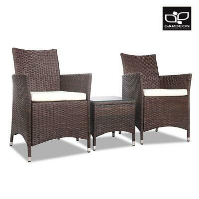 Garden Furniture - RETURNs Gardeon Patio Furniture Outdoor Furniture Set Chair Table Garden Wicker