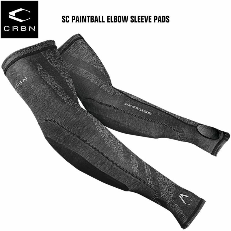 Carbon Paintball SC Elbow Pads Sleeve - Gray Heather - Large