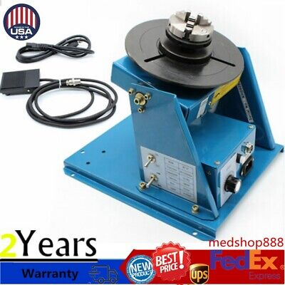 2.5 Welder Table Rotary Welding Positioner Turntable Table 3 Jaw Lathe Chuck Us