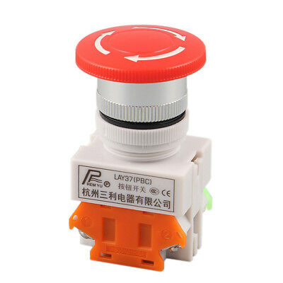 E-stop Switch Red Self Lock Button Emergency Stop Push Mushroom Cap Equipment