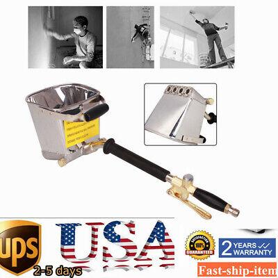 Cement Mortar Sprayer Hopper 4 Jet Paint Wall Concrete Tool Stucco Gun New