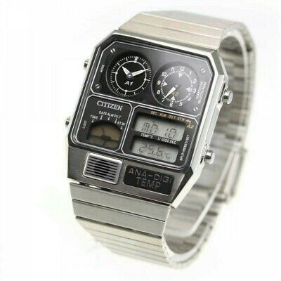 CITIZEN ANA-DIGI TEMP Reproduction Model Watch Silver JG2101