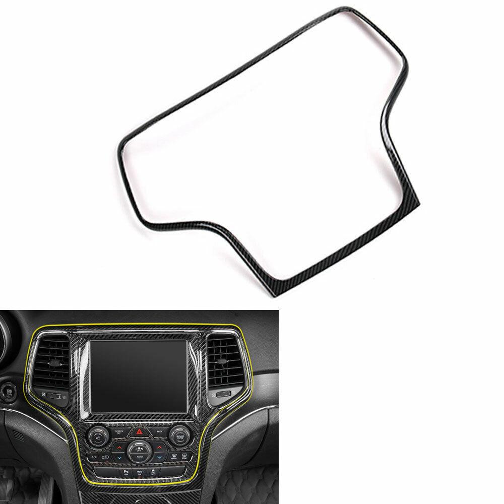 For 14-19 Jeep Grand Cherokee Carbon Fiber Navigation Panel Cover Trim