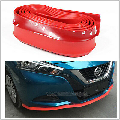25m RED Car Front Bumper Spoiler Lip Kit Splitter Valance Chin Protector Kits