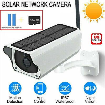 Solar Powered IP Camera 1080p WiFi Ip67 Night Vision Security...
