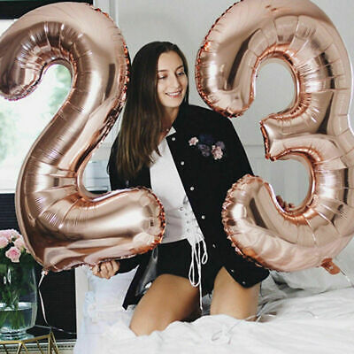 Rose Balloon (Rose Gold Series Foil Latex Balloon Helium Star Birthday Party Wedding Decor)