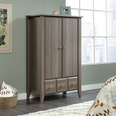 دولاب جديد Sauder Shoal Creek Armoire in Diamond Ash finish, 418662 New
