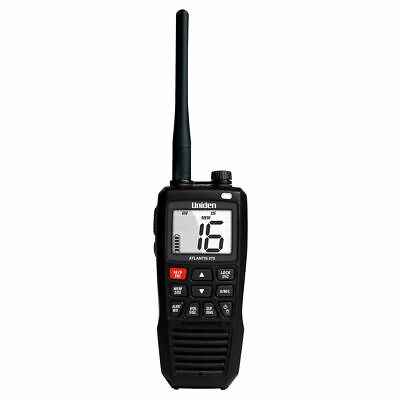 New Uniden 5 Marine Hand Held Floating VHF Radio,Li-ION rechargeble Atlantis 275 Uniden Handheld Vhf Radio