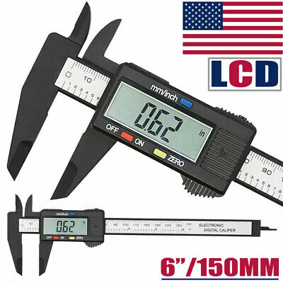 Digital Vernier Caliper 6150mm Stainless Steel Micrometer Electronic Tool Usa