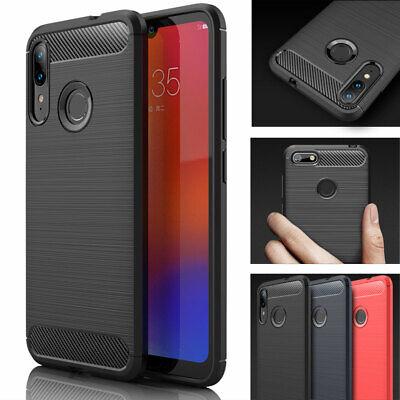 for Motorola Moto E6 Plus, E6 Play Premium Carbon Fibre Protective Case Cover