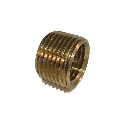 - BRASS FACE BUSHING REDUCING NPT THREADS PIPE FITTING 3/8 MALE X 1/4 FEMALE