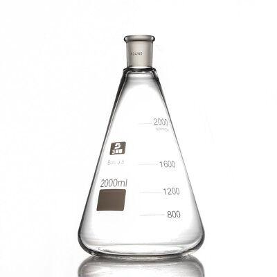 Glass Erlenmeyer Flask2lconical Bottlelab Chemistry Glassware 2000ml2440us