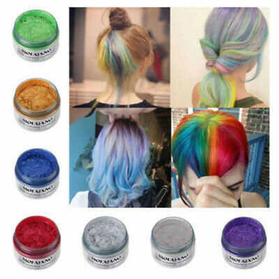 Temporary Red Hair Color Halloween (Mofajang Hair Color Wax Temporary Hair Dye Washable Colorful for Party)