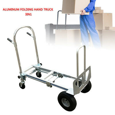 Aluminum 3-in-1 Convertible Hand Truck With With Quick One Hand Conversion 350kg