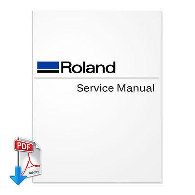 Roland Versacamm Sp-540v Service Manual