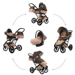 Knorr-Baby-Voletto-Set-3in1-Kombi-Kinderwagen-Set-Sahara-mit-Autositz-3312-3