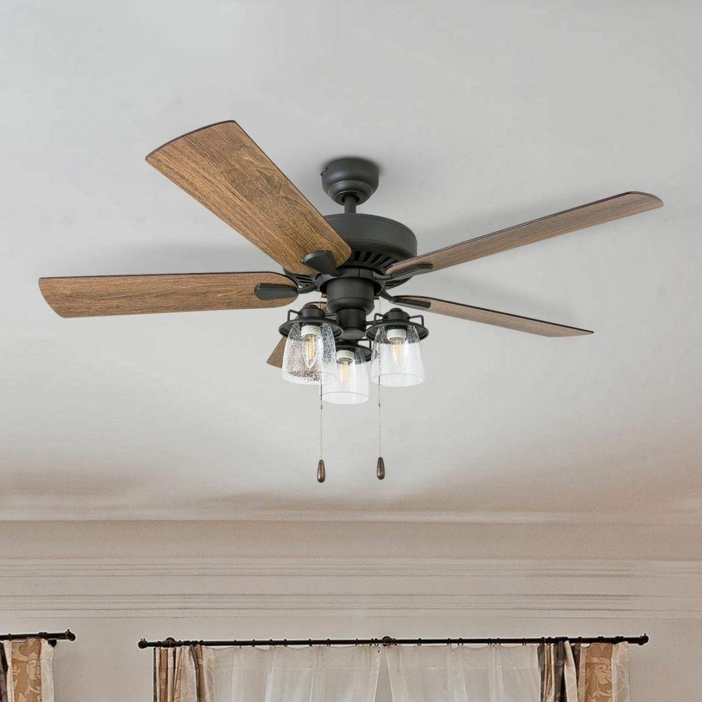 Farmhouse Chandelier Ceiling Fan Light Fixture with Remote R