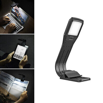 Led Reading Book Light With Detachable Flexible Clip Usb Rechargeable Lamps Home