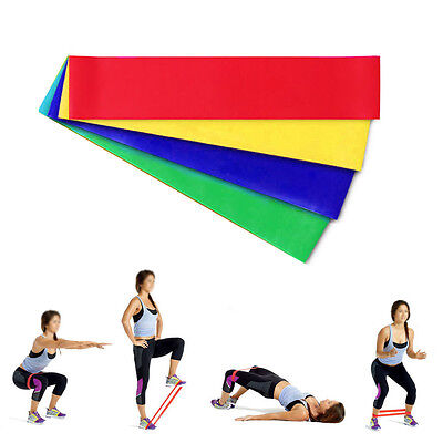 4 in 1 Resistance Loop Exercise Yoga Bands Workout Fitness Training CrossFit