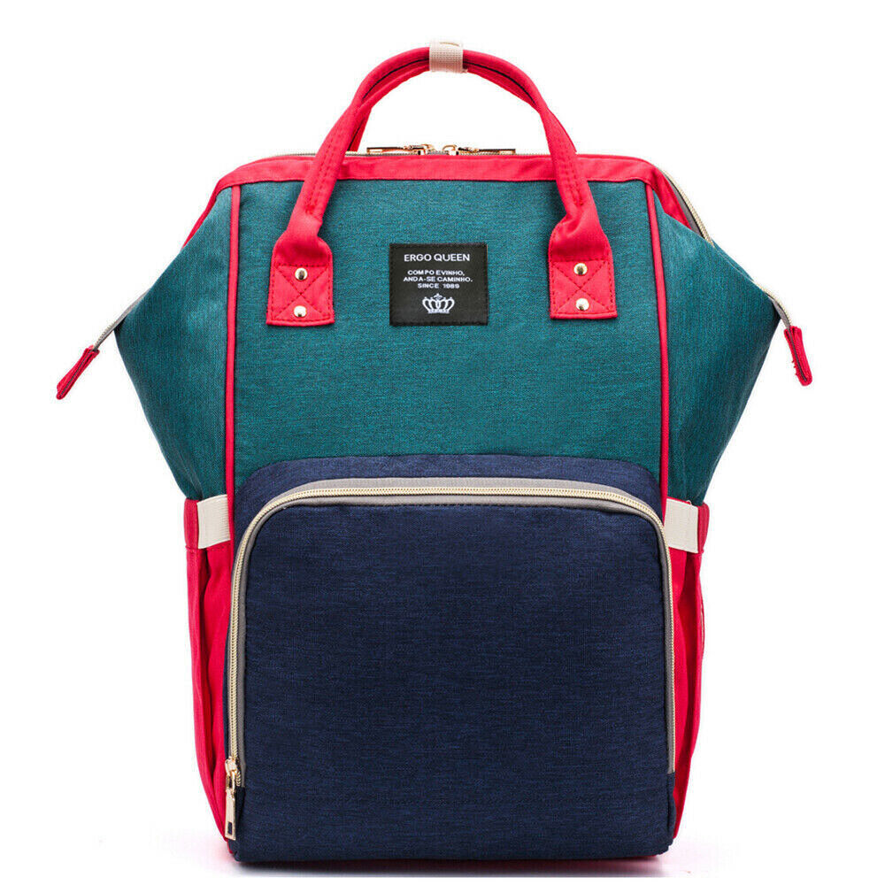 Ergo Diaper Bag Backpack Mummy Maternity Nappy Large Capacity Baby Bag Travel  Red Navy Green