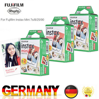 Fuji Instax 60 Bilder Mini Film Sofortbildfilm Doppelpack Fujifilm 8/25/9/90 DE