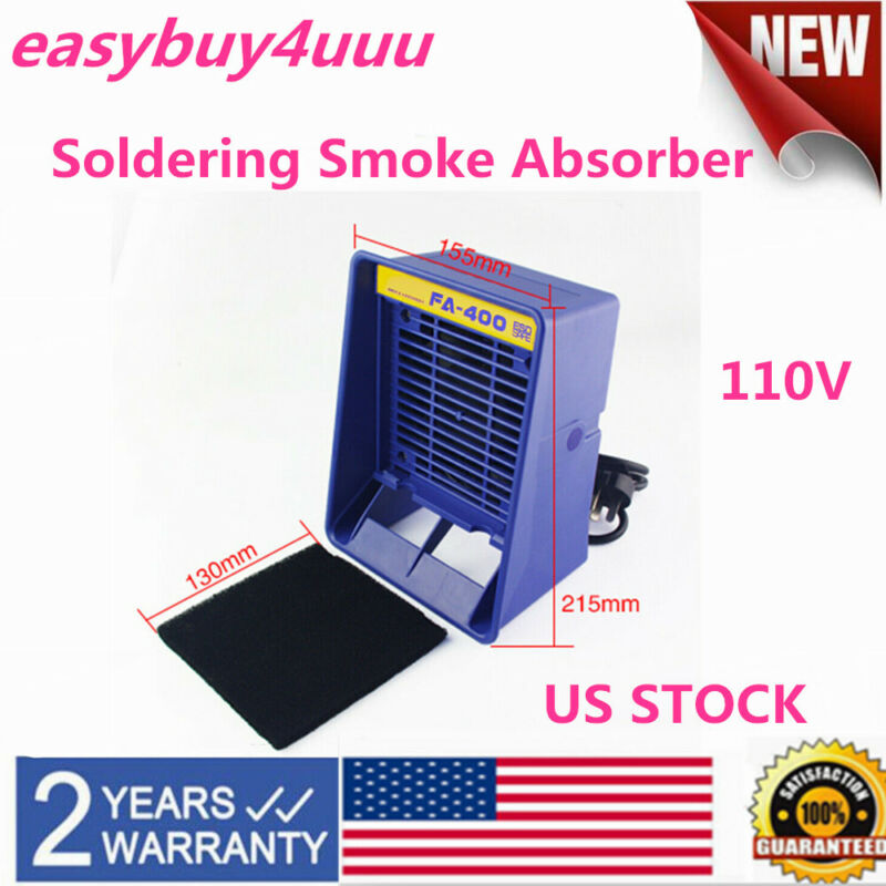 FA-400 Solder Smoke Absorber Remover Fume Extractor Air Filter Fan for Soldering