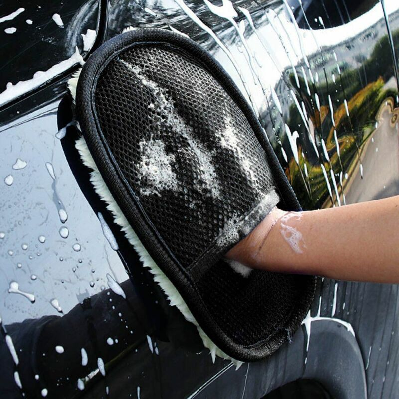 Clean Sponge Car Wash Cleaning Sponge Wash Gloves Glass Cleaner Cloth Care Mitt