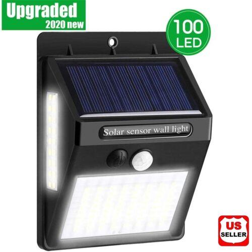 100 LED Solar Power Light PIR Motion Sensor Security Outdoor Garden Wall Lamp US Home & Garden