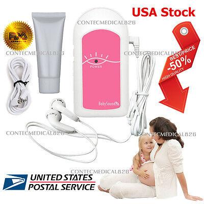 Baby Sound A Pocket Fetal Doppler Baby Heart Beat Prenatal Heart Monitor+Gel,FDA for sale  USA