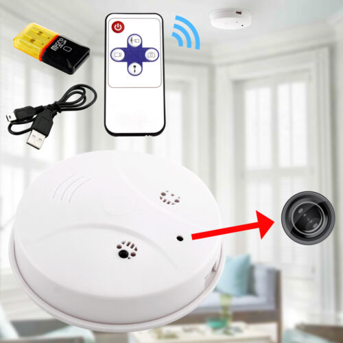 Hd Dvr Hidden Camera Smoke Detector Motion Detection Vide...