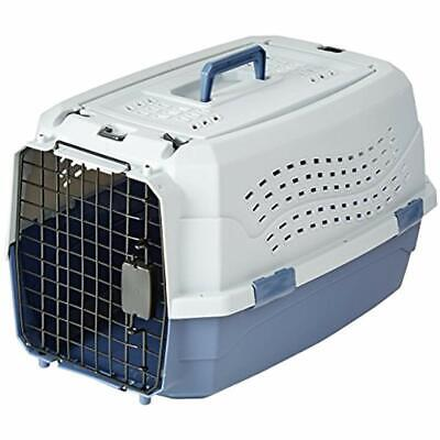 Two Door Pet Kennel Top Load Travel Crate Dog Cat Pet Cage Carrier Box Tray