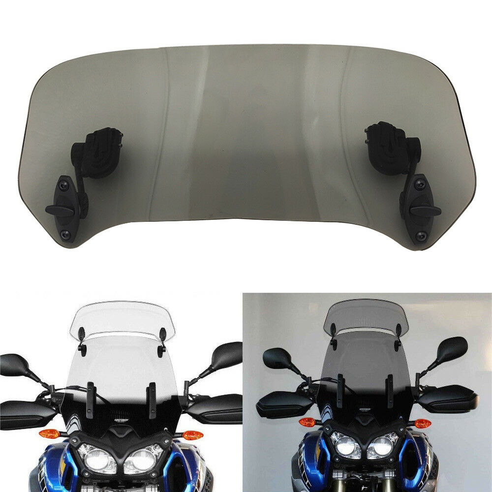 Motorcycle Wind Screen Deflector Motorbike Windshield Universal Adjustable UK