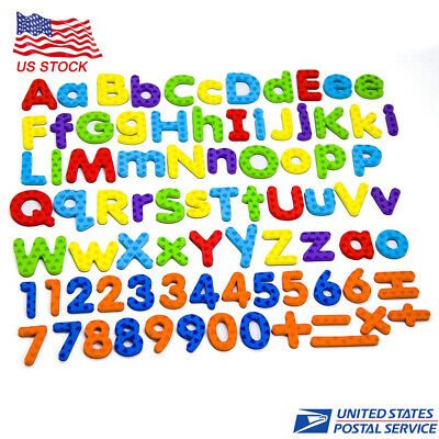 82 Pcs Educational Alphabet Magnetic Letters & Numbers for Educating Kids