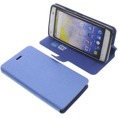 Funda para Cubot Echo Smartphone Book Style Protección Teléfono Móvil Libro Azul