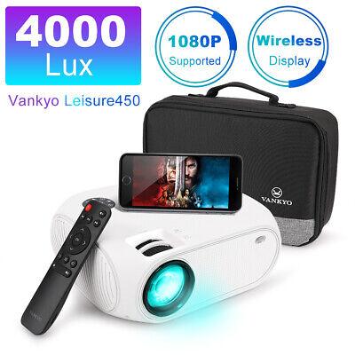 VANKYO LEISURE 450 4000 Lux Full HD 1080p Mini Projector 170'' Display Support