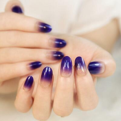 24x Falsche French Farbverlauf Nagel Tips Nail Kunstnägel Künstliche