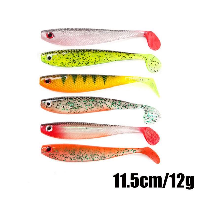 Artificial  Carp 10g//12.5cm Soft Bait Silicone Swimbait Worm Fishing Lures