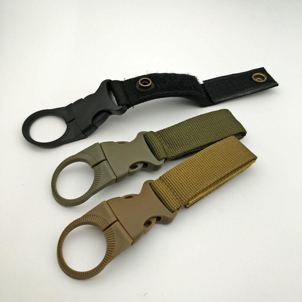 Hook Carabiner C8X1 Tactical Nylon Webbing Buckle Key Water Bottle Holder Clip