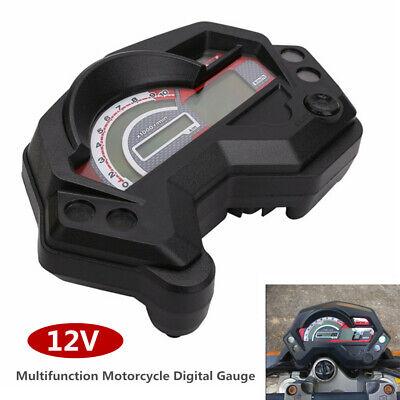 12V Universal Motorcycle ATV UTV LCD Digital Gauge Speedo/Tacho/Odo Meter Km/h