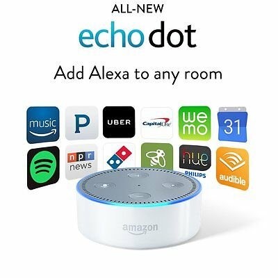Brand New Sealed Amazon Echo Dot With Alexa White 2Nd Generation