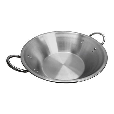 22 X 7-12 X 13 Flat Surface Carnitas Cazo Pot Cooking Wok Stainless Steel